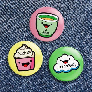 Kawaii Button Pack No 2