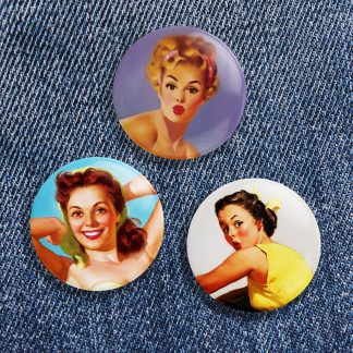 Vintage Pinup Button Pack No 1