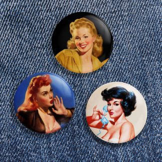 Vintage Pinup Button Pack No 2