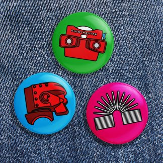 Retro Toy Button Pack No 1